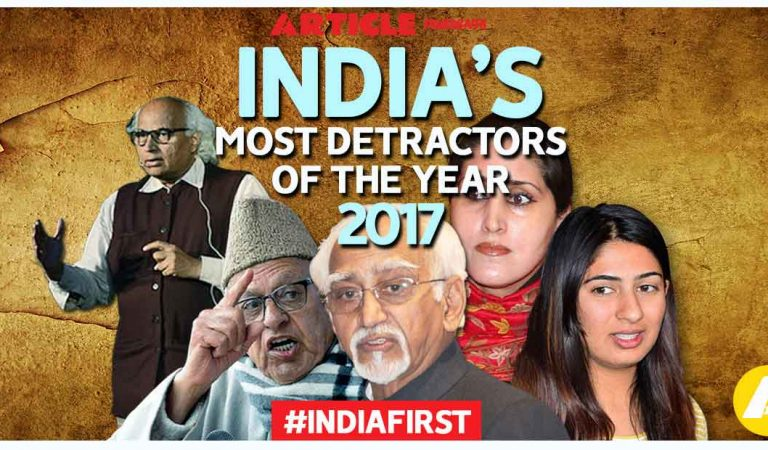 India's Most Detractors Of The Year 2017- Vote for Nation's Pride! (Part-2)