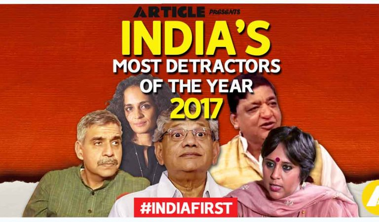 India's Most Detractors Of The Year 2017- Vote for Nation's Pride! (Part-3)