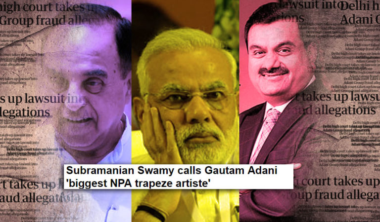 Should Govt take Dr. Swamy's comments about Adani lightly?