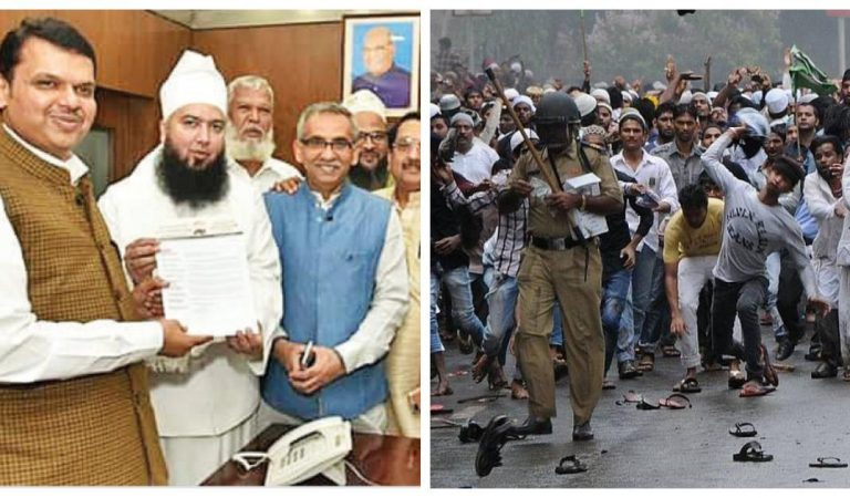 6 Yrs of Azad Maidan Riots and Zero compensation recovered, Baba Bengali enjoys vicinity of politicians including CM Fadnavis