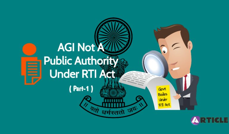 Attorney General Of India, 'public authority' not yet under RTI Act