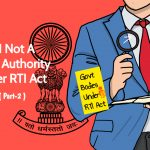 RTI NOT A PUBLIC AUTHORITY UNDER RTI ACT